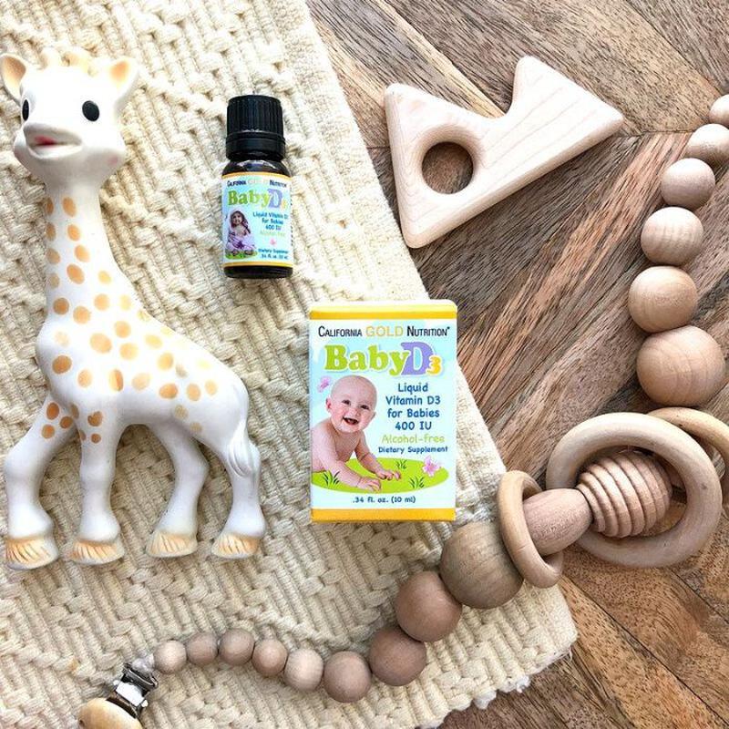 California Gold Nutrition Витамин D3 в каплях для детей, 400 М...