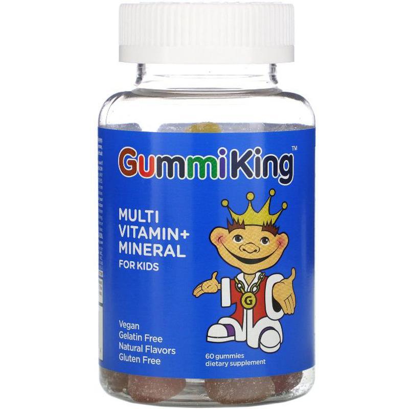 GummiKing Multi-Vitamin, мультивитамины и минералы для детей, ...
