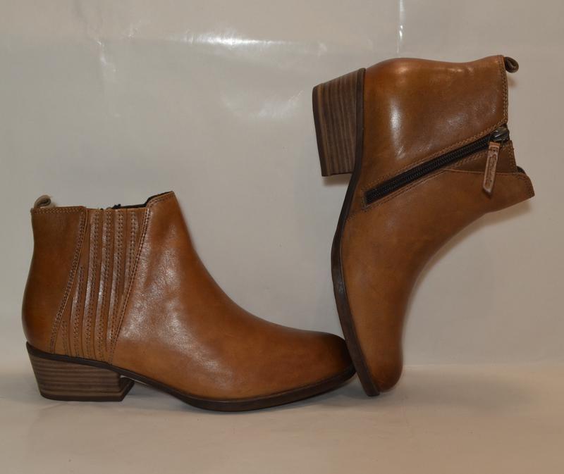 Германия tamaris 100% натуральная кожа! ботинки туфли повыш ко... - Фото 5
