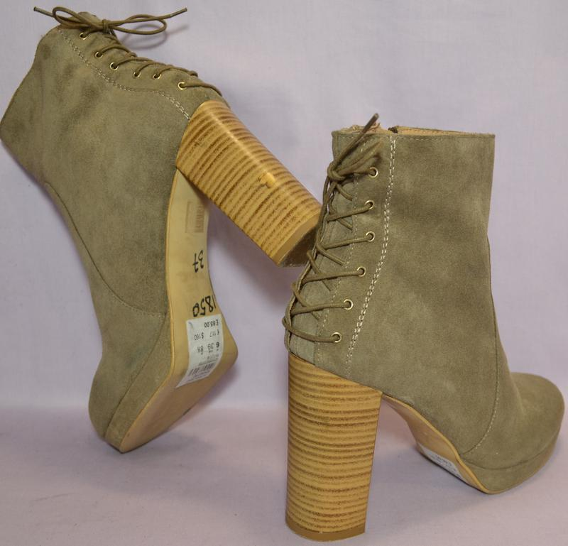 Topshop испания100% натуральная кожа! модные ботильоны ботинки... - Фото 4