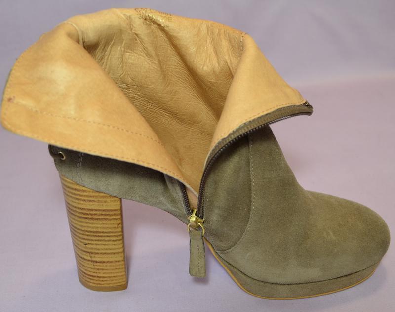 Topshop испания100% натуральная кожа! модные ботильоны ботинки... - Фото 6
