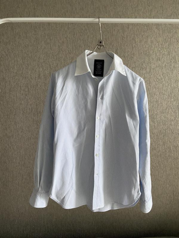 Gant рубашка мужская подростковая школьная в полоску