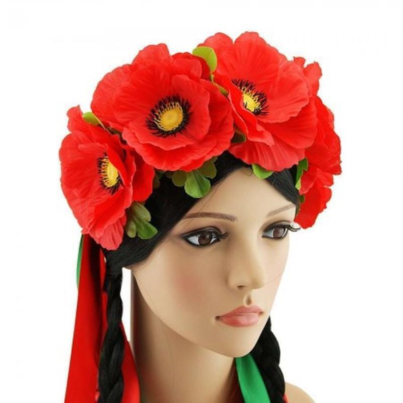 Маскарадный венок на голову для костюма украинки