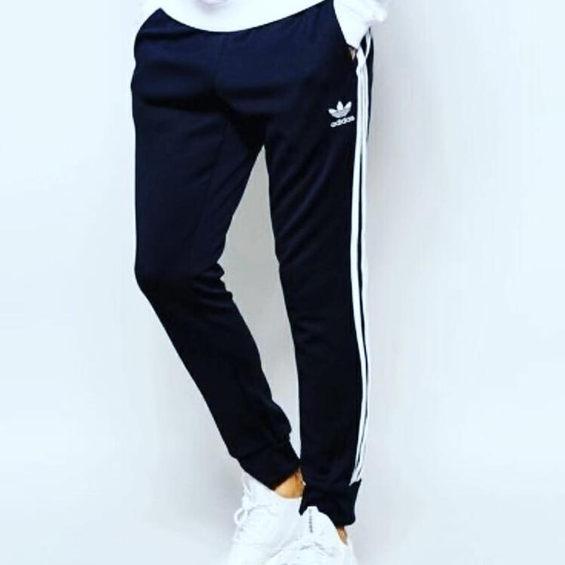 Спортивные штаны Адидас на манжете черные Adidas pants