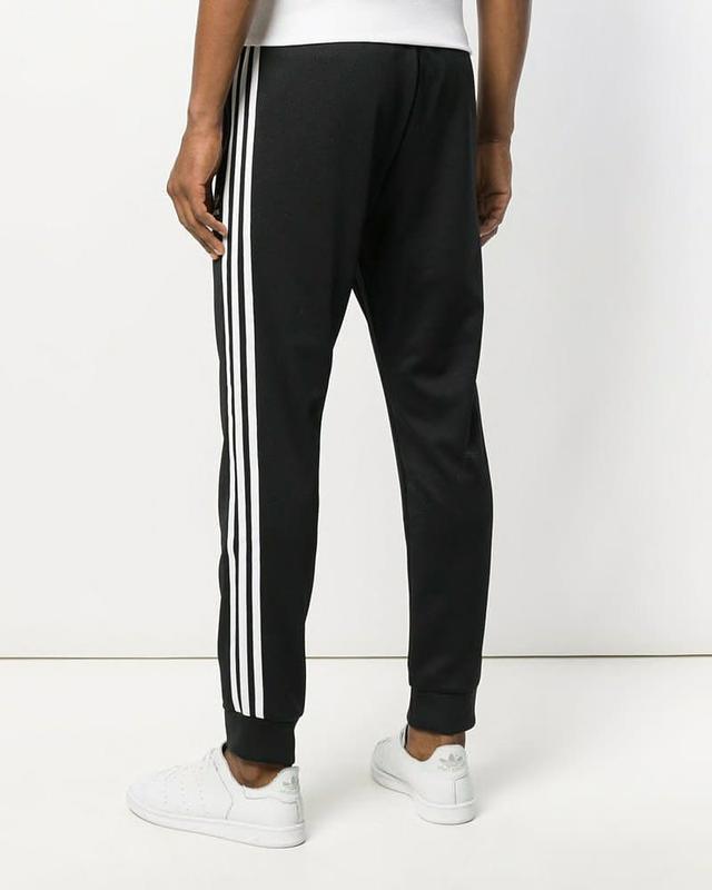 Спортивные штаны Адидас на манжете черные Adidas pants - Фото 2
