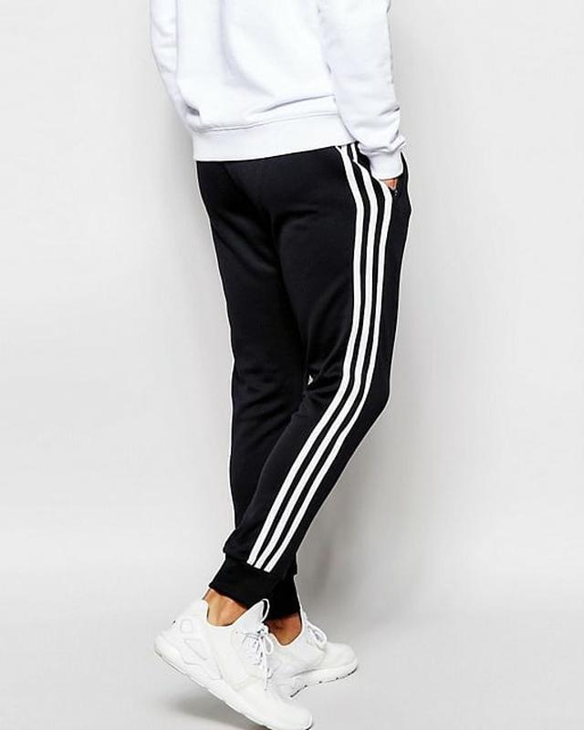 Спортивные штаны Адидас на манжете черные Adidas pants - Фото 4
