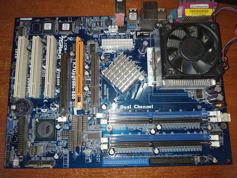 Материнка K7Upgrade-880 socket 462+процессор+память+видеокарта+ку