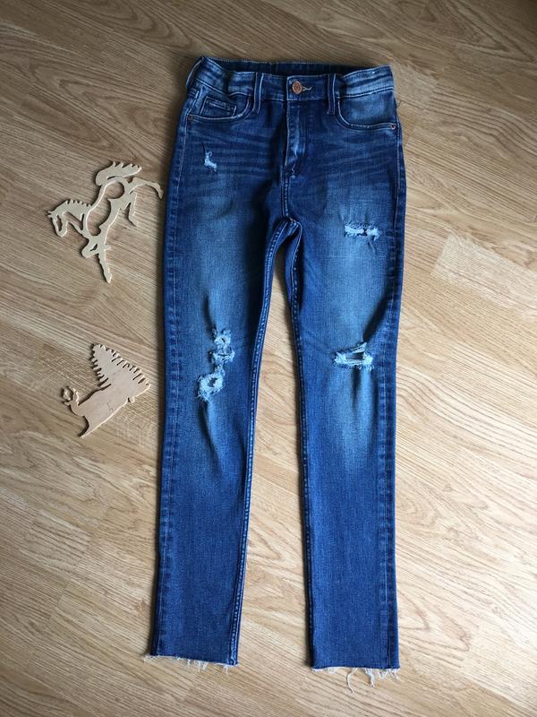 Модные красивые джинсы на девочку 9-10 лет, 140 р. skinny fit,...