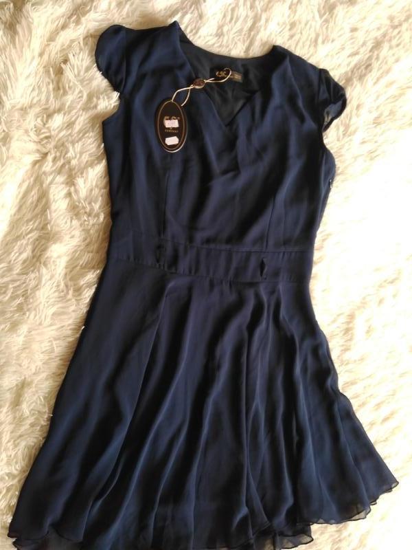 Турецкое платье,темно синего цвета размер 44