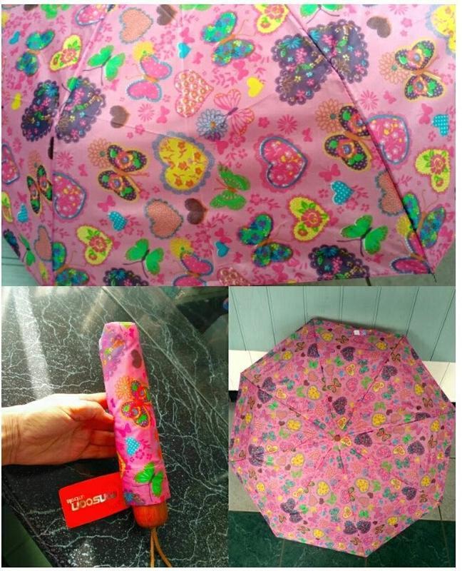 Компактный маленький зонт в дамскую сумочку.