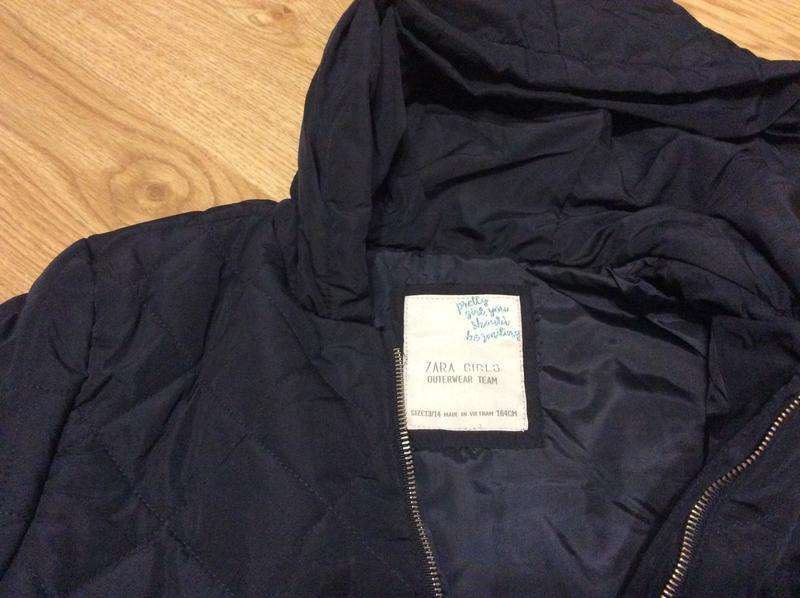 Стеганая курточка zara на 4 года - Фото 4