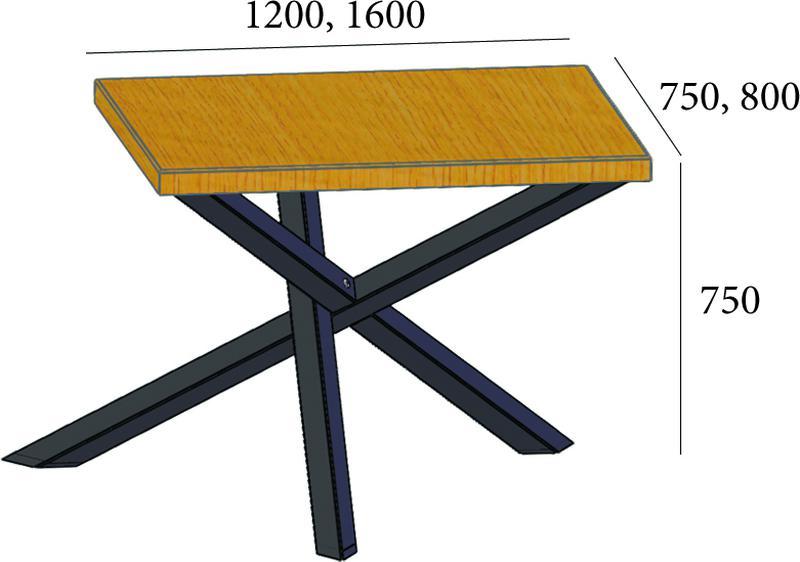 Стол 160*80*75см - Фото 2