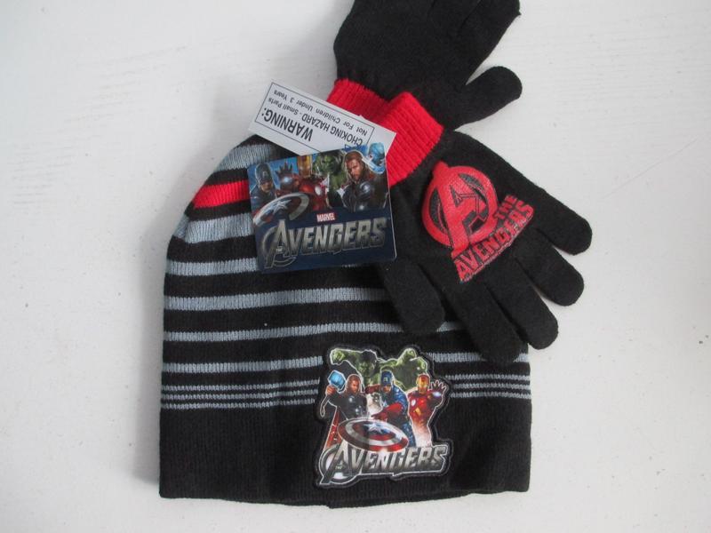 Комплект шапка перчатки marvel avengers оригинал сша америка