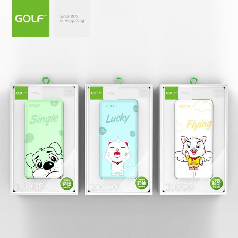 "Внешний аккумулятор Power Bank ""Golf G56"" 10000mAh Cartoon Patter - Фото 2"