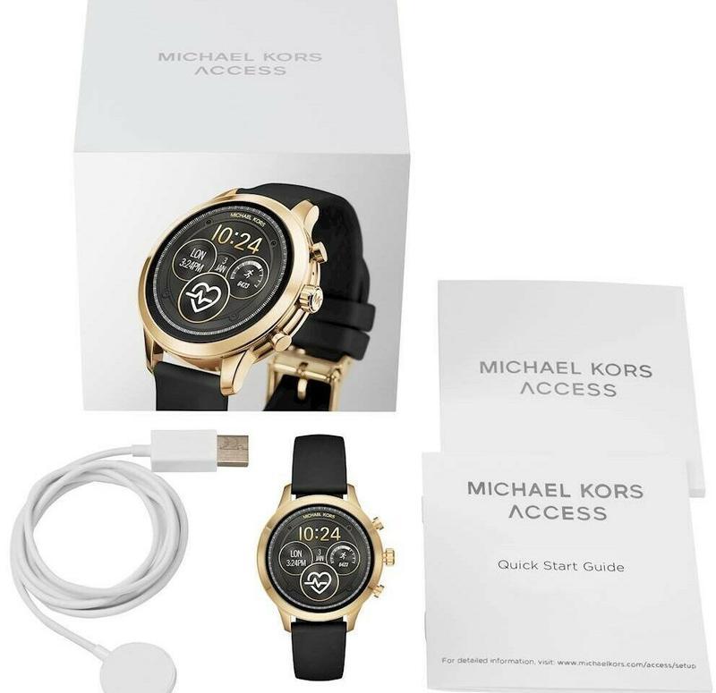 Смарт часы Michael Kors Access Runway 4 Gen Stainless Steel G/B - Фото 5