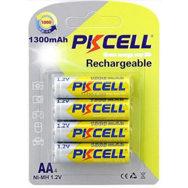 Аккумулятор Pkcell 1,2 v АА 1300 mAh 4шт. - Фото 2