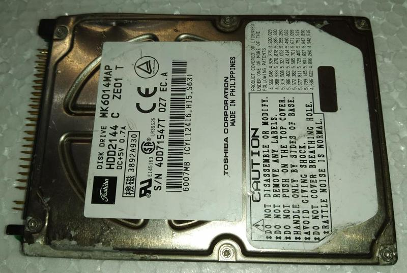 Жесткий диск для ноутбука HDD IDE 2.5 6GB TOSHIBA б/у (40D71547T)