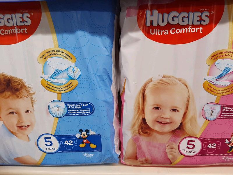 Подгузники HUGGIES 5-ка Ультра Комфорт