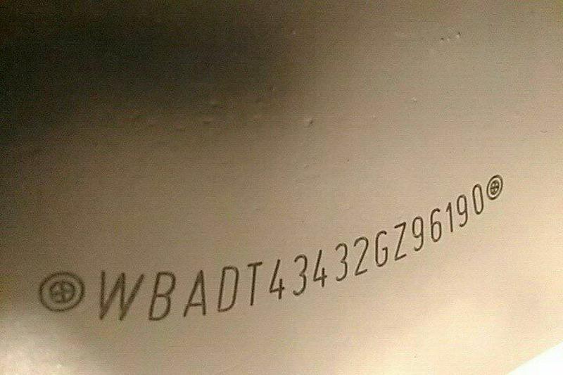 Изготовлени номерной части VIN Kod(Вин кода)(номер кузова)