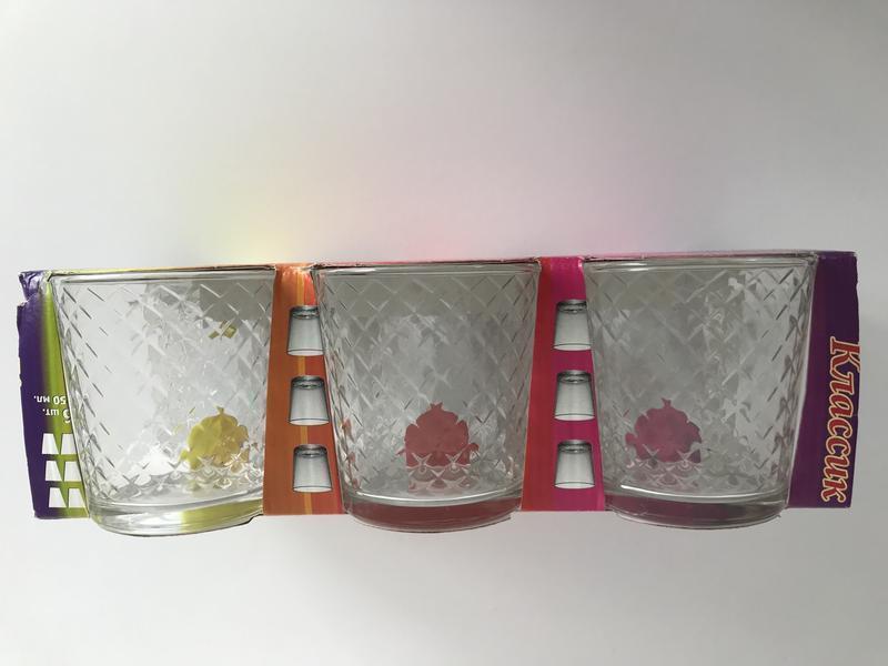 Стаканы, стеклянные стаканы, набор стаканов 6 шт.