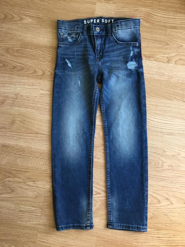 Красивые модные джинсы на мальчика 7-8 лет, 128 размер. slim f...