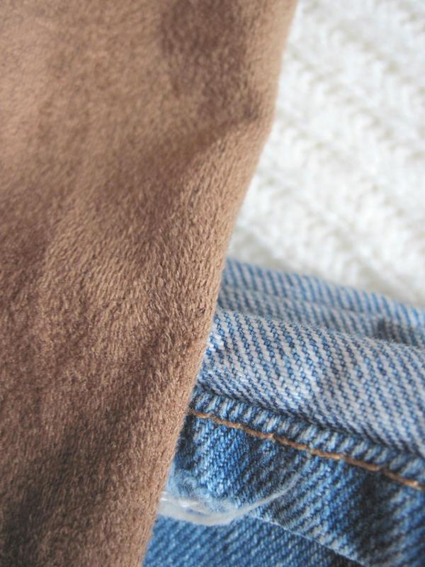 Стильное осеннее замшевое платье на запах promod - Фото 4