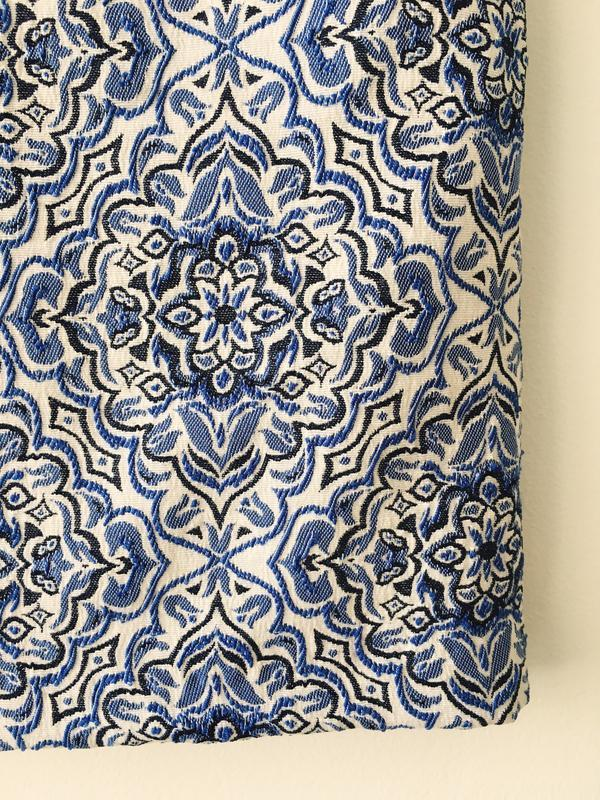 Юбка-трапеция из жаккарда нежно-голубого цвета new look мини ю... - Фото 6