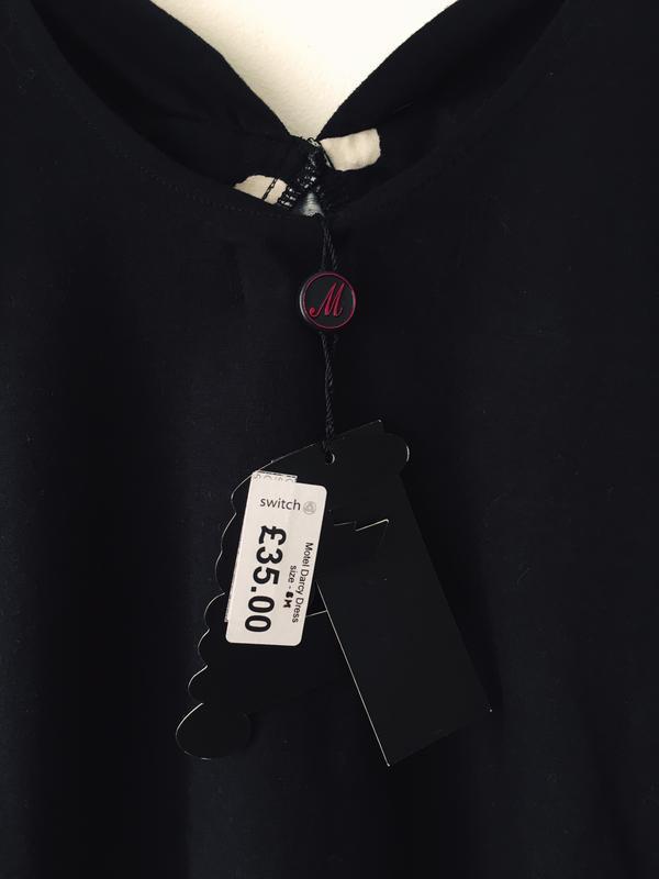 Платье в стиле 80-х motel petite хлопковое черное платье-бюсть... - Фото 7