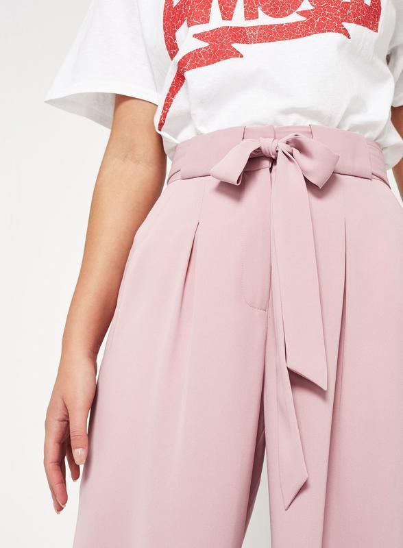 Новые нежно-розовые кюлоты из струящейся ткани miss selfridge ... - Фото 2