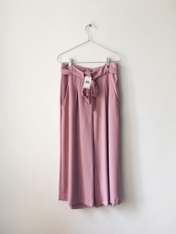 Новые нежно-розовые кюлоты из струящейся ткани miss selfridge ... - Фото 6