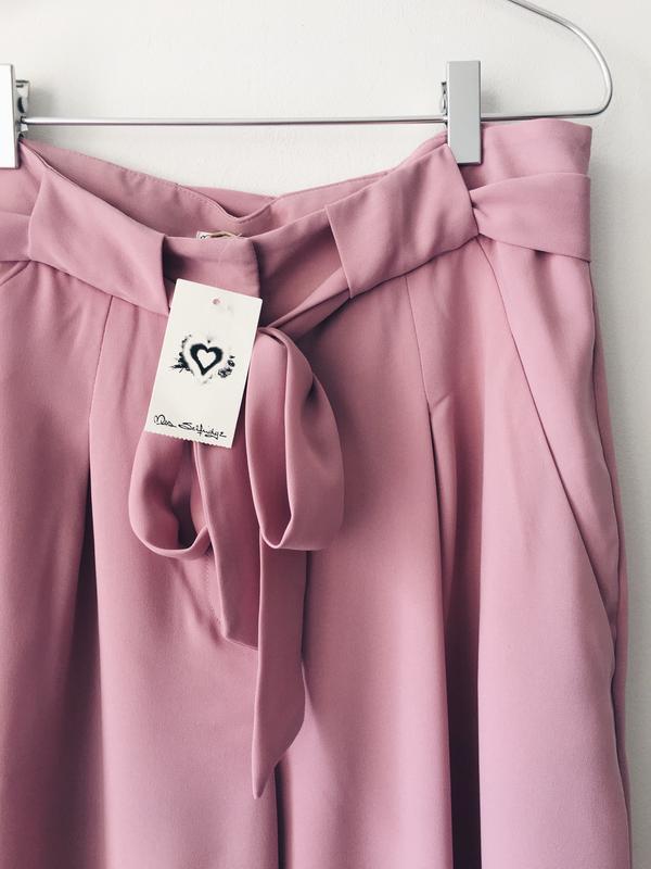 Новые нежно-розовые кюлоты из струящейся ткани miss selfridge ... - Фото 7