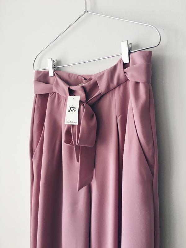 Новые нежно-розовые кюлоты из струящейся ткани miss selfridge ... - Фото 8