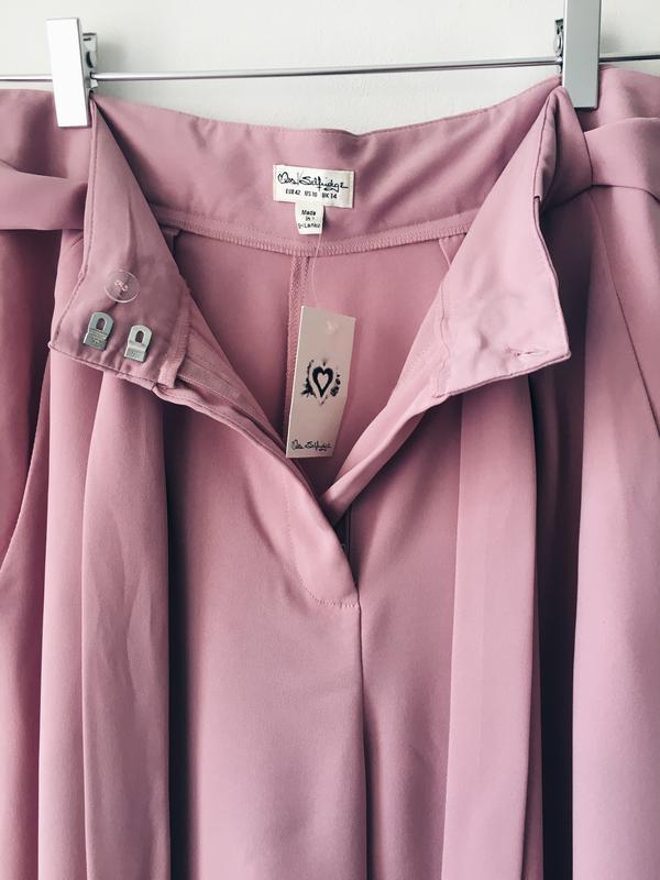 Новые нежно-розовые кюлоты из струящейся ткани miss selfridge ... - Фото 10
