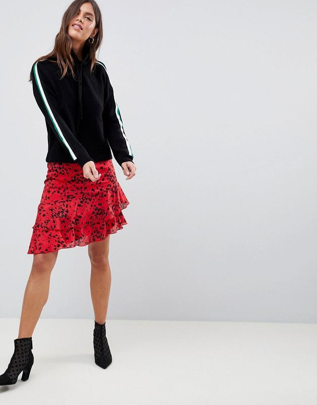 Новая юбка с оборками в актуальный анималистичный принт vila к...