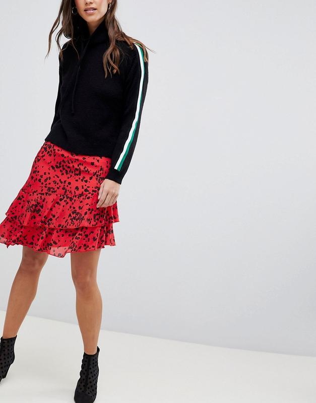 Новая юбка с оборками в актуальный анималистичный принт vila к... - Фото 4
