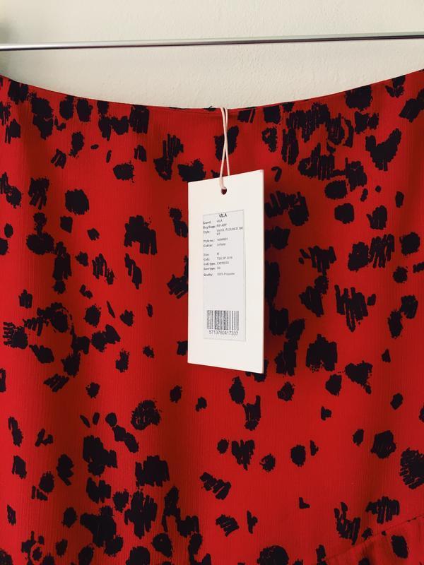 Новая юбка с оборками в актуальный анималистичный принт vila к... - Фото 8