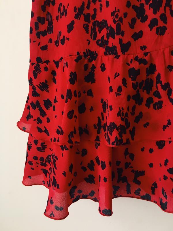 Новая юбка с оборками в актуальный анималистичный принт vila к... - Фото 7
