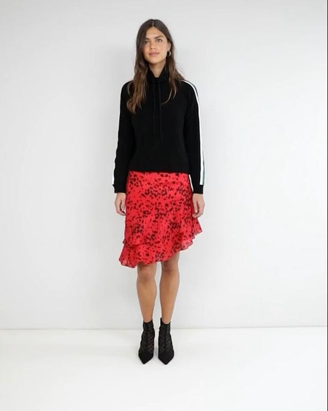 Новая юбка с оборками в актуальный анималистичный принт vila к... - Фото 10