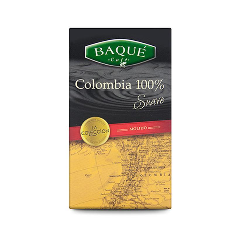 Кава BAQUE, 100% Colombia Suave, мелена, 250г.