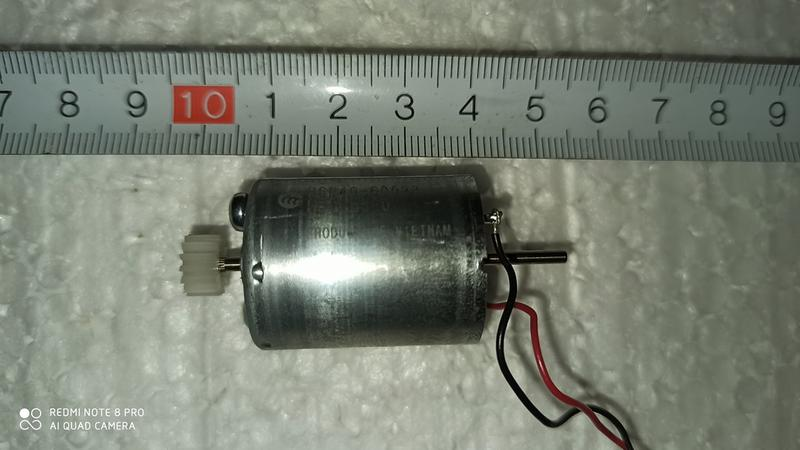 Микро мотор(минидвигатель) с двойным валом (B6P40-60023) 6V-12V - Фото 3