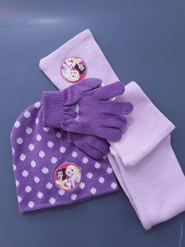 Комплект disney princess, lidl: шапка шарф перчатки