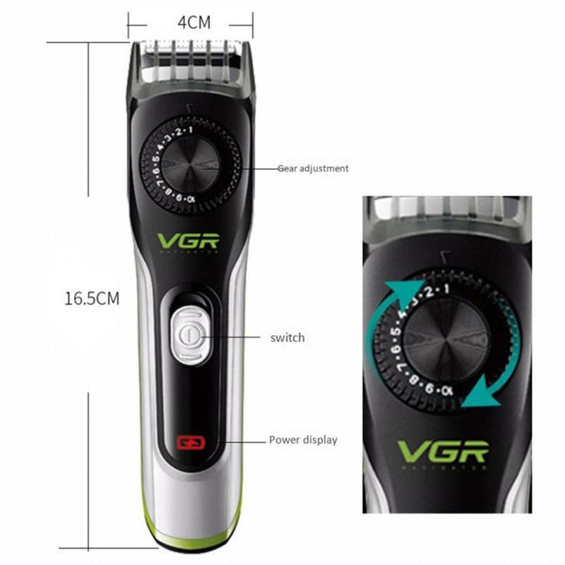 VGR V-028 профессиональная машинка для стрижки волос триммер - Фото 6