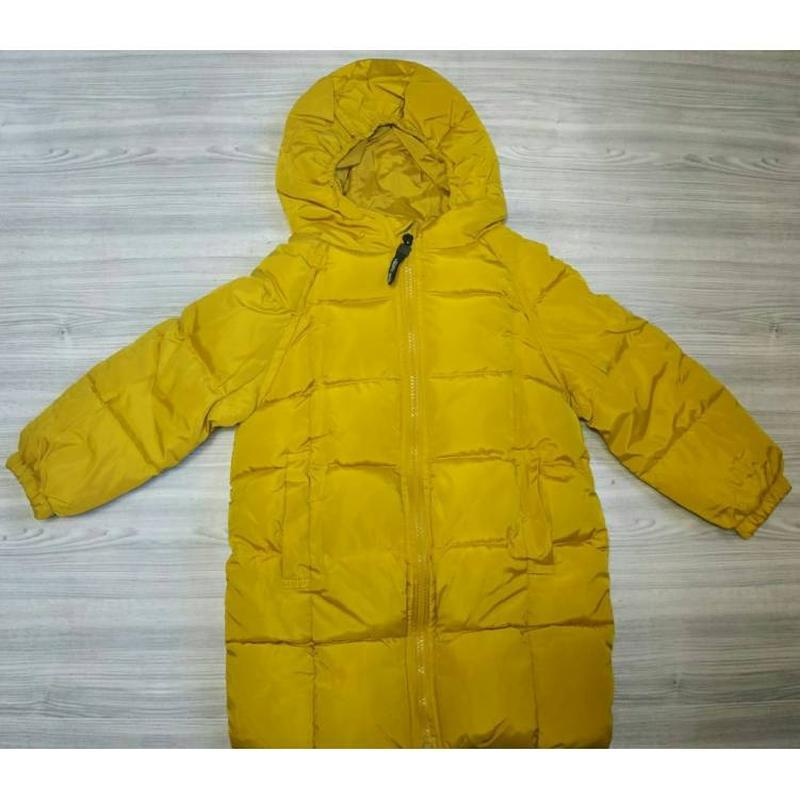 Зимове пальто жовте