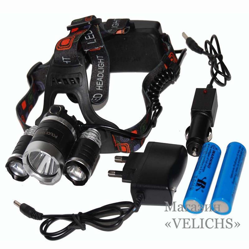 Налобный аккумуляторный фонарик Bailong Police RJ-3000-T6
