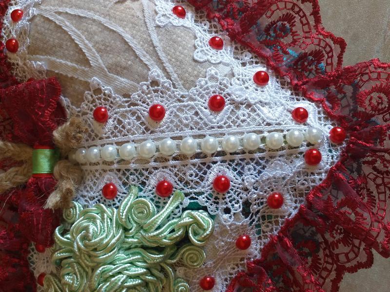 Декоративна подушка-серце авторська робота - Фото 4