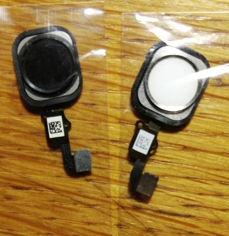Кнопка Home iPhone 6s белая чёрная