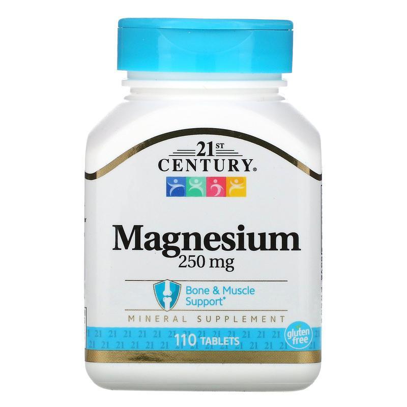 Магний, 250 мг, 110 таблеток 21st Century, США