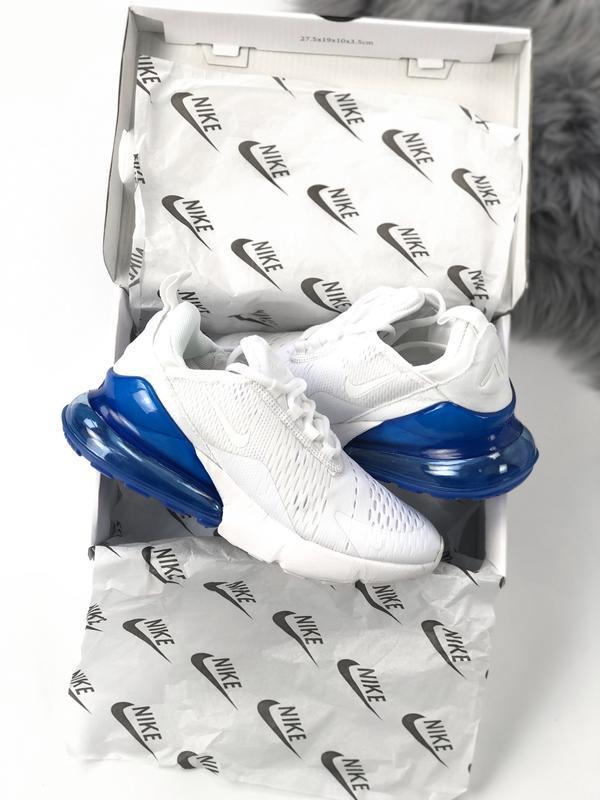 Женские кроссовки найк nike air max 270 white blue