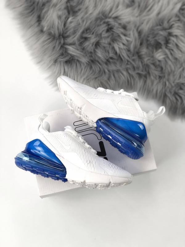 Женские кроссовки найк nike air max 270 white blue - Фото 2