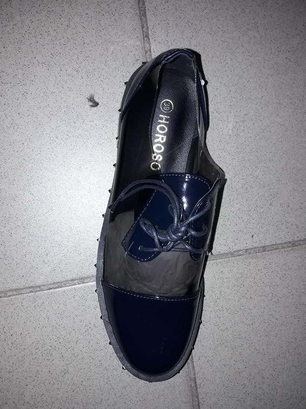 Туфли на шнуровке лоферы полуботинки - Фото 2